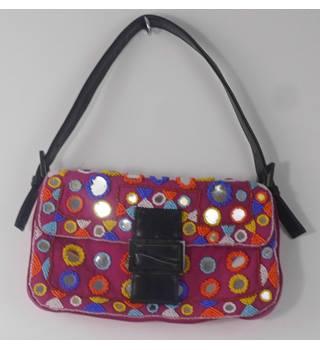 e0b414f04ba Warehouse Fuchsia Pink Bead Embellished Handbag