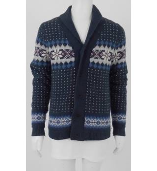 9120b0c4c6075 Tommy Hilfiger Size  L Blue Knitted Wool Blend Knitted Cardigan
