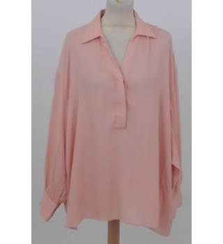 e577676c4f5261 M amp S Collection Size  22 Pale apricot long sleeved shirt