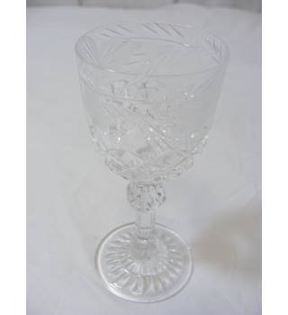 Other Bohemian/czech Art Glass Bohemian/czech Set Of 6 Hand Made Czech Brandy Glasses Green Jade White