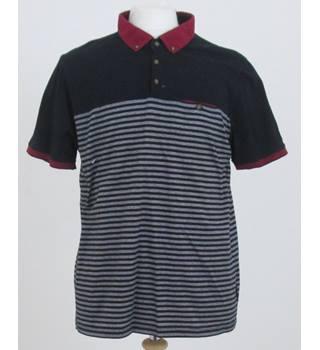 ecc1839d4 Ted Baker Size XXL Black with Horizontal Stripes Polo shirt