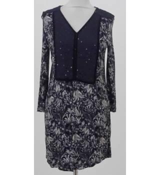 bdaefa0e32ac Next Size 10 Black, Grey & Ivory Long-sleeved Floral-print Dress