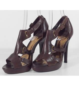 72005b569 BNWT Faith Brown Leather Strappy Sandals Size 6