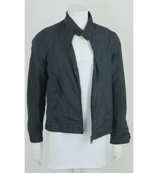 954b77c142a6 Prada Size  L Grey  amp  Blue Striped Waterproof Jacket