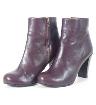 396b88308a45  amp  Other Stories Size  3 Plum 100% Genuine Leather Boots