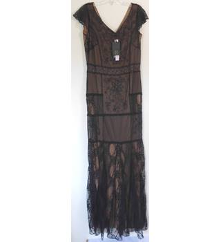 cc6d8a3027072 New 'Collection 8' Petra Lace Maxi Size 16 Black/Nude Dress (Apx