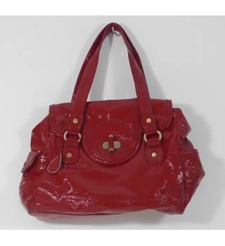 280869cf6e8a Tula Size M Leather Red Glossy Handbag