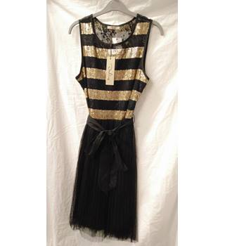 ac61c7bd862e Darling sequinned black and gold dress - BNWT - Size L