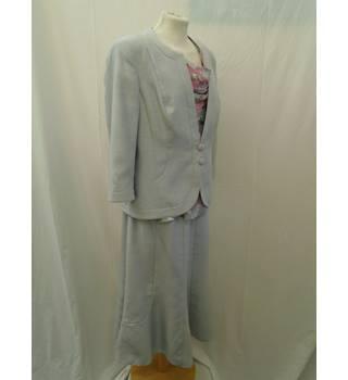 Jacques Vert Black Velvet Suit With Pink Lining Size Uk 10 Top Uk 12 Skirt Damenmode Anzüge & Anzugteile
