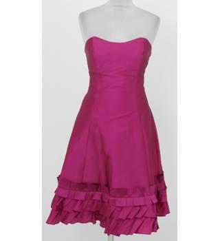 a4e362ea275 Alvina Valenta Maids  Size 12  Magenta frilled hem bridal ball gown