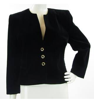 ea25c4d6 Jacques Vert - Size: 10 - Black - Cotton/modal - Jacket