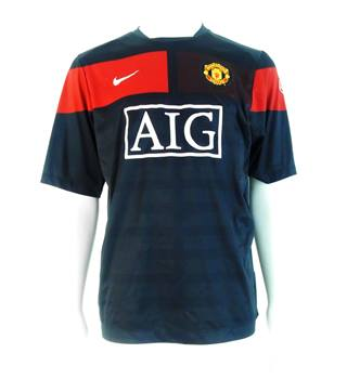6a95ffe82 2009-2010 Manchester United Black Training Shirt Size L