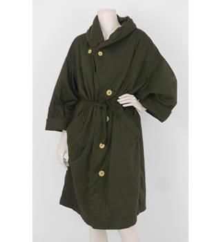 e1877c892c9f Vintage 1970'S Issey Miyake Size: XL Khaki Green Oversized Wind Coat