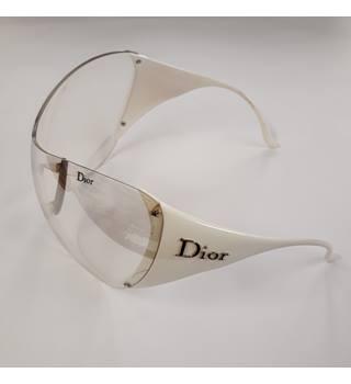 2d69b2d4d1 CHRISTIAN DIOR SKI 1 RARE White Sunglasses with Clear Lens by Christian  Dior Christian Dior -