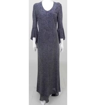 f2e1d6978f4 Richard Shops Size M Grey Metallic Long Dress