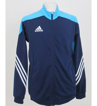 ec2ddcf3f Adidas size  M sky blue navy blue white tracksuit top