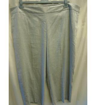 171797ec89 M&S Collection Grey Part-Linen Trousers, Size 24 Reg M&S
