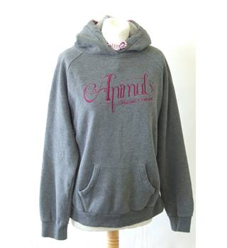 ece5660a5 Animal 10 Grey Cotton Blend hoodie sweatshirt pink graphic logo brand  slogan sports street wear