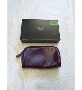 7bb25626d43d20 Osprey - Purple - Leather - Purse/Make-up Bag - BNIB OSPREY -