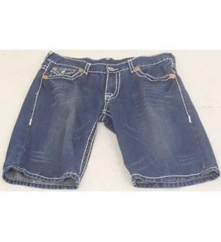"f20574f8a2 True Religion Brand Jeans Size 38"" Waist Blue Shorts"