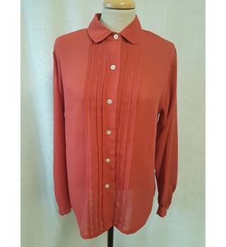2481edfe827b Dark Orange Shirt Del Costa - Size: 10 - Orange - Long sleeved shirt