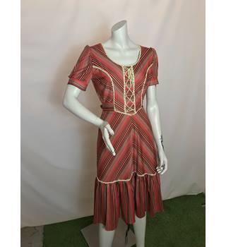 26bdab3f318f Vintage 1970's Dress Size: 12 - Multi-coloured - Vintage