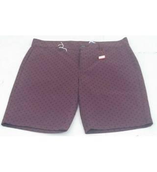 """4c0236d80c BNWT ASOS Size 32"""" Waist Burgandy Mellon Balls Shorts"""