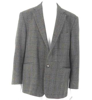 Handmade Reversible Girl's Green Check Tweed Size 9 Years Perfect In Workmanship New Born