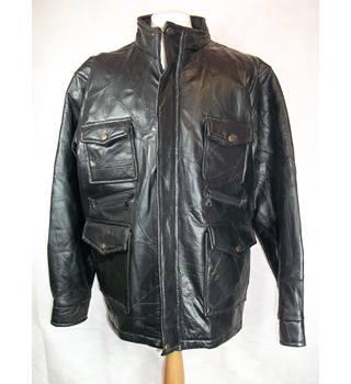 6eca3bb2 Leather Bomber Jacket. Black. Size XXL Unbranded - Size: XXL - Black -