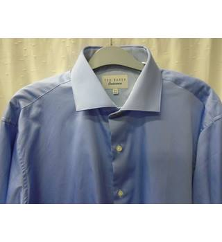 Crew Clothing Large Blue Shirt Clear And Distinctive Men's Clothing Casual Button-down Shirts