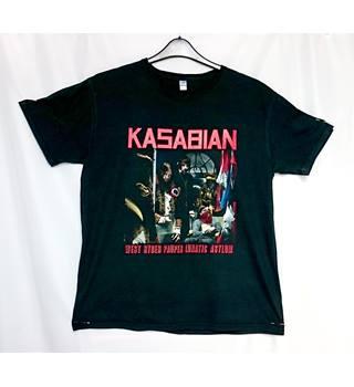 db0c8a07 Kasabian 2009 Tour Souvenir T Shirt Gildan - Size: L - Black - Short sleeved