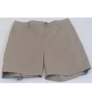 6ea90840 BNWT ASOS Size 10 Pale Brown Chino Rainbow-stripe Knee-length Shorts