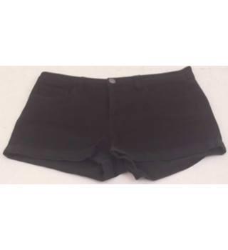 """8eb7f25f Life in Progress Size 28"""" waist Black Cotton-blend Twill Shorts"""