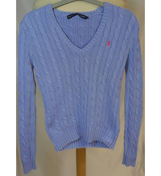 c1c1d9b8 Ralph Lauren Sport Knitted Blue Jumper Ralph Lauren - Size: S - Blue -  Sweater