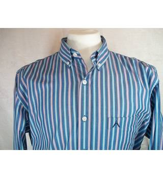 62e963b2 Classic Austin Reed Stripe Shirt. Blue ,size L. Austin Reed - Size: