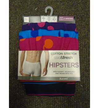 25d1d2aa7dfb M&S Collection 3-Pack Spotted Hipster Underpants, Size Small M&S ·  M&S ...