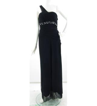 49646779 Jane Norman - Size: 16 - Black - Asymmetrical dress