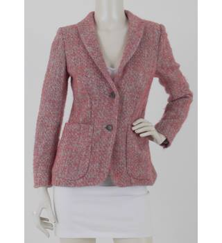59f4a76a Piazza Sempione Size: 12 Pink Wool, Alpaca & Mohair Blend Textured  Jacket