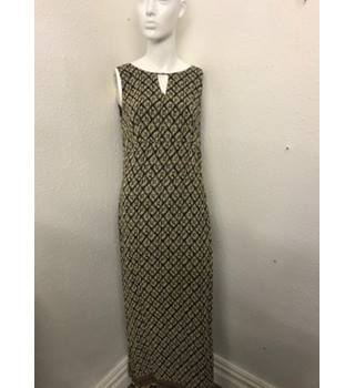9eef88a44fc70 Fitted Maxi Summer dress - Size: 12 - Black