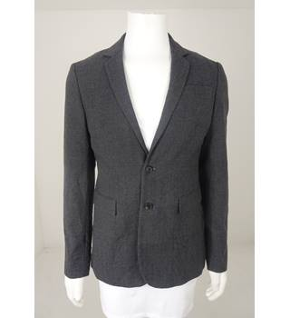 8806c392745b All Saints Size 40 Slimfit Grey Herringbone Wool Jacket