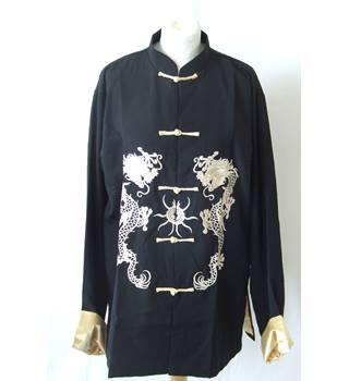 20e8638231 Eastern Collection Size L black and embroidered golden dragon Chinese  traditional oriental jacket