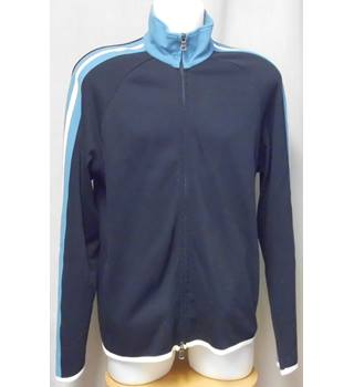 db92b816 Hugo Boss Size L Navy and Light Blue/ White Stripe Detailing Sweatshirt