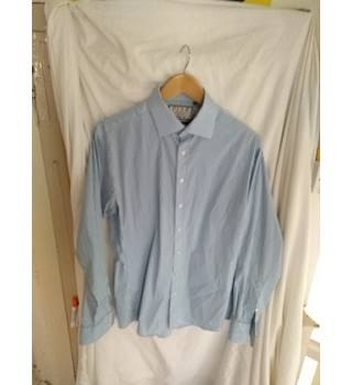 """01e1fd1ad61 Thomas Pink - Blue Gingham - Athletic Fit Shirt - Size 16"""""""