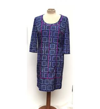 85ae4a1898340 MARC NEW YORK - Multi-coloured blue dress with pipping detail - Size UK 4
