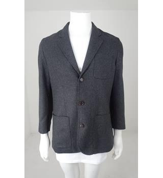56ef2ead John Lewis Kin Size M Mid-Grey Melange Wool-Rich Jacket