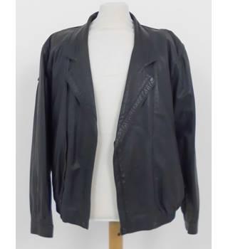 dfa85b206fac55 Burberry Size XL Black/Petrol Leather jacket