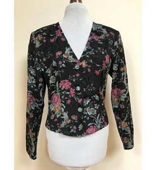 00b1bc90e Vintage Etam floral Jacket Etam - Size: 12 - Black - Jacket