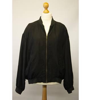 e479a8460ed50 Vintage M&S Silk Bomber Jacket: Size - Large - Black