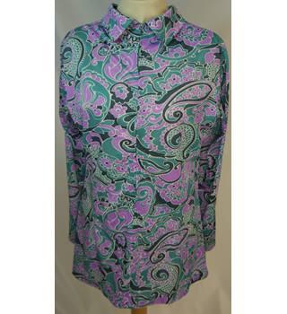 efb69f47f8 St Michael - Size: 16 - Vintage Patterned Shirt