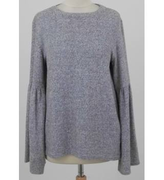 6d50ea656a Zara size:S light grey marl gathered sleeve jumper